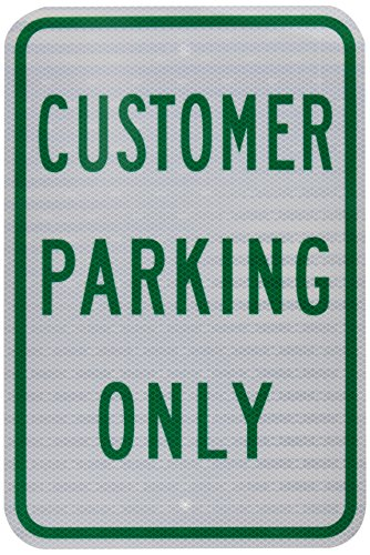 (Tapco RP-2 Engineer Grade Prismatic Rectangular Parking Sign, Legend