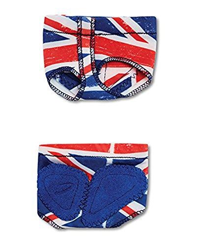 Capezio Adult Print Footundeez Lyrical/Modern Shoe Cmh P-** (X-Large, UK Flag)