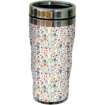 Tree-Free Greetings sg23622 Colorful Blue Hummingbirds by Shell Rummel Sip N Go Stainless Steel Lined Travel Tumbler 16-Ounce Tree Free