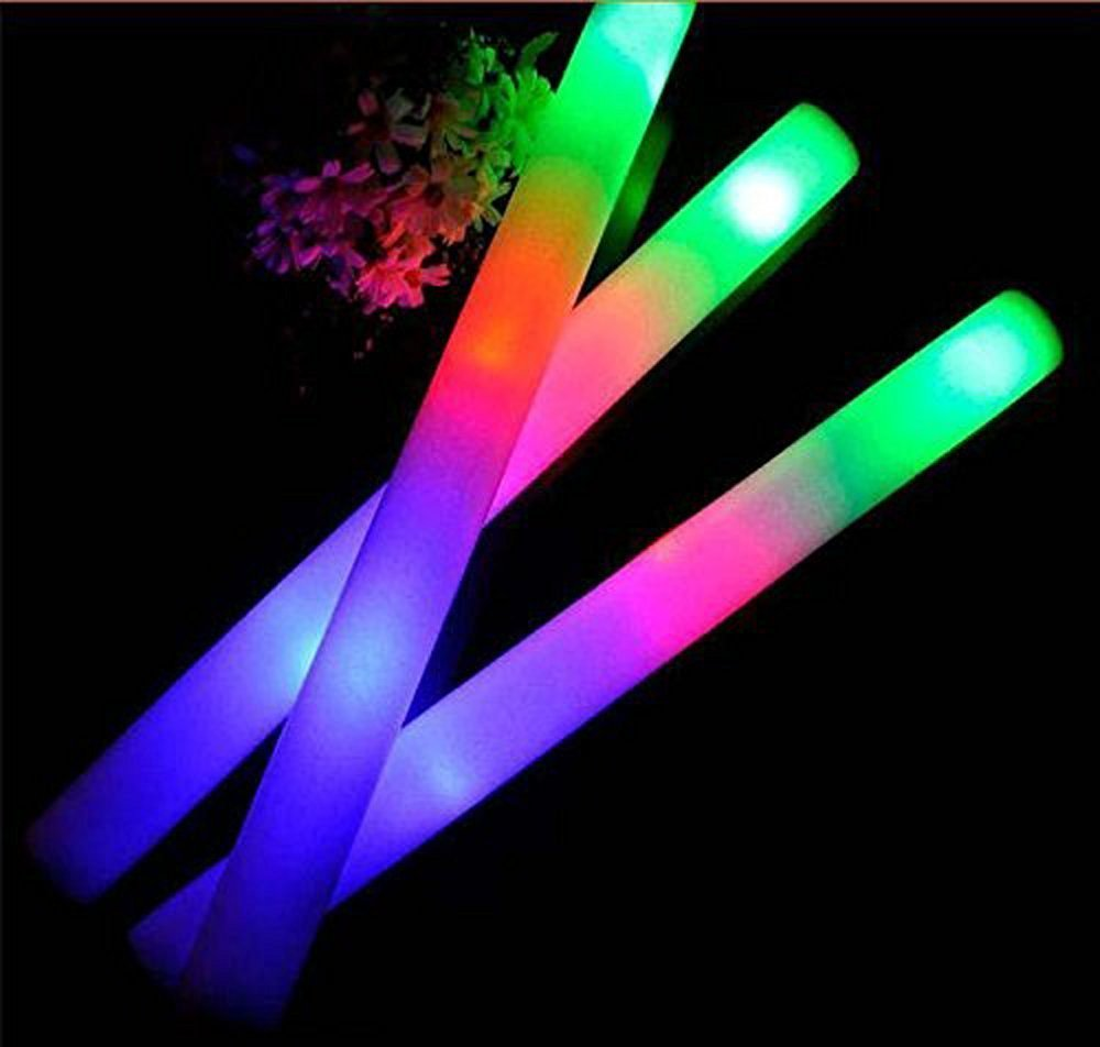 Taotuo Seerootoys 30 PCS LED Light-Up Foam Sticks Rally Rave Cheer Tube Soft Glow Baton Wands