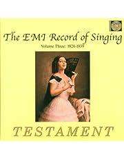 EMI Record of Singing Vol. 3: 1926-1939