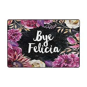 Naanle Area Rugs Bye Felicia Flower Door Mat Outdoor Indoor Cotton Interlayer Polyester Fabric Top 2'x3'