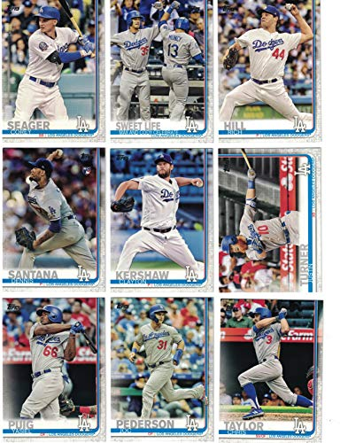 Los Angeles Dodgers/Complete 2019 Topps Series 1 Baseball Team Set! (13 Cards) Includes 25 bonus Dodgers Cards! ()
