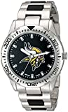 Game Time Men's 'Heavy Hitter'  Metal and Alloy Quartz Analog  Watch, Color:Silver-Toned (Model: NFL-HH-MIN)