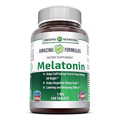 Amazing Nutrition mélatonine - 1 Mg -240