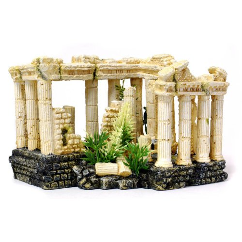 Polyresin Roman Square Columns Aquarium Decoration 23cm by (Polyresin Column)