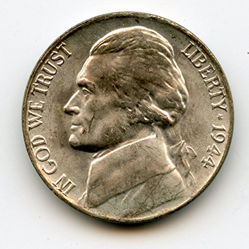 1944 P Jefferson Extra Metal Nickel MS-65