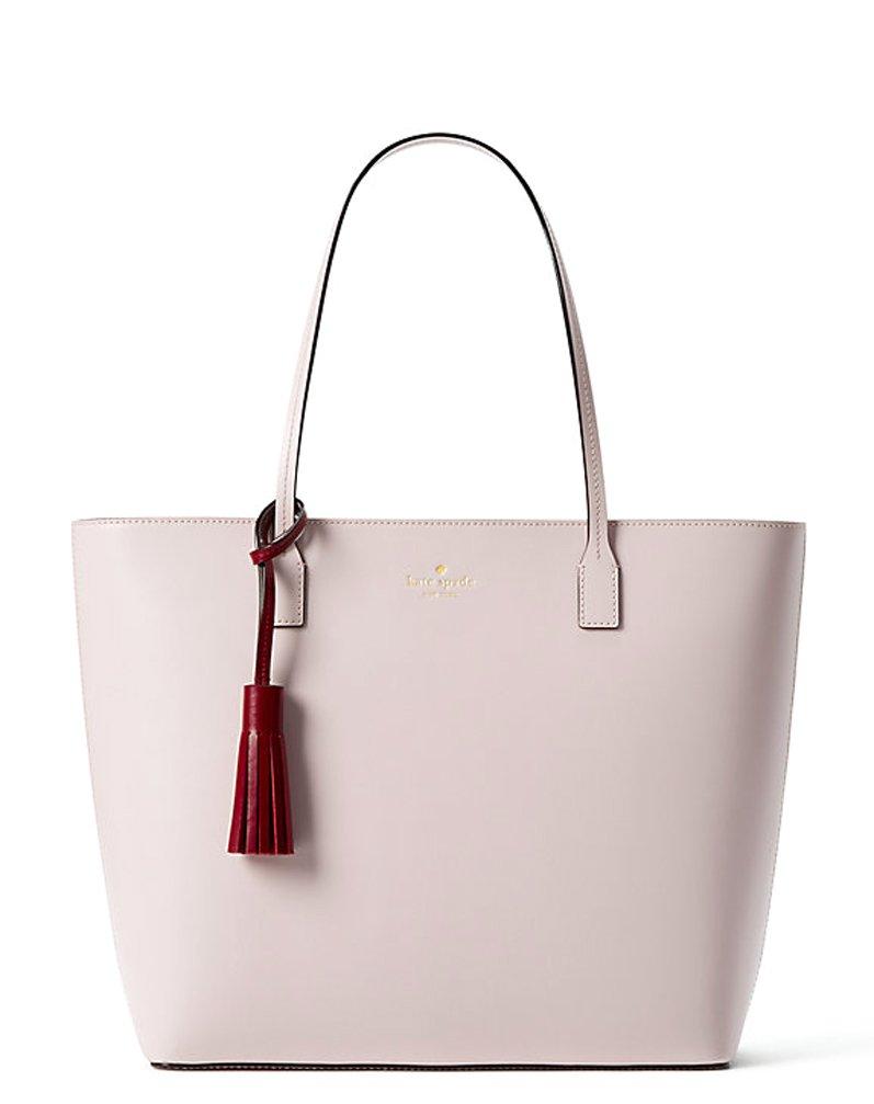 Kate Spade Full Screen Zoom Wright Place Karla Leather Tote Shoulder Bag Purse Handbag (plum dawn/rioja)
