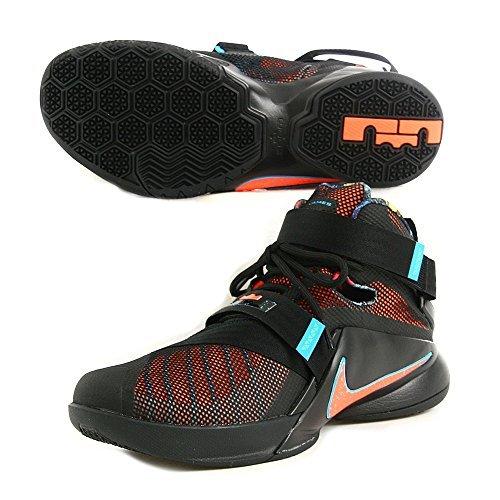 58b9c57432a7 Nike LEBRON SOLDIER IX mens basketball-shoes 749417-084 10.5 - BLACK BLUE  LAGOON GREEN SHOCK HYPER ORANGE - Buy Online in Oman.