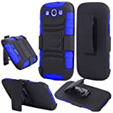 Samsung Galaxy S3 i9300, EpicDealz Armor Series – Heavy Duty Dual Layer Holster Case Kick Stand with Locking Belt Swivel Clip For Samsung Galaxy S3 i9300 (AT & T, Boost Mobile, Cricket, Metro PCS, T-Mobile, Virgin Mobile, Sprint, Verizon, U.S.Cellular, Net 10, Tracfone, Straighttalk) + Mini Stylus Pen + Case Opener For Sale