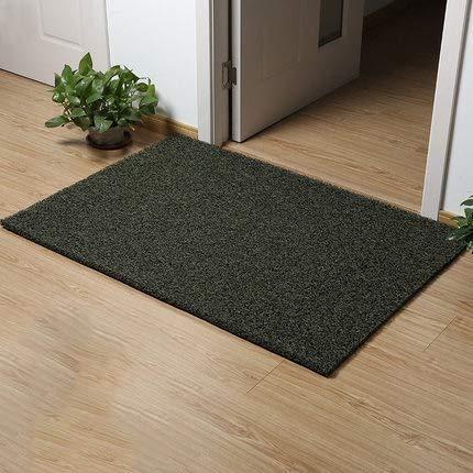 Green 60x90cm(24x35inch) Non-Slip Door Mat, Carpet Front Door Carpet for Doorway Stairs Insole Balcony Front Door-Black 60x90cm(24x35inch)