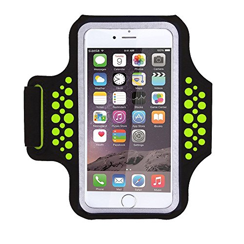 Triomph Armband iPhone X, iPhone 8 Plus, 7 Plus, 6 Plus, 6s Plus, iPod Galaxy S6, S6 Edge, S7 Edge Plus Key Cards Money Holder Running, Sports, Jogging, Hiking, Biking 5.8