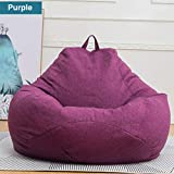 Extra Large Bean Bag Chairs for Adults Kids Couch Sofa Cover Indoor Lazy Lounger (Purple)