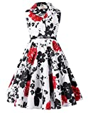 GRACE KARIN Girls Retro Dress Polka Dots Party Dress 6-7 yrs CL9000-5