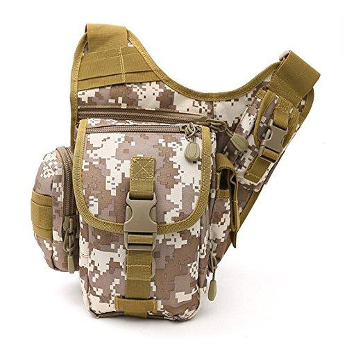 Wmshpeds Deportes al aire libre grandes portasilla hembra multi-funcional de las tácticas de camuflaje del ejército paquete super fans hombro bolsa bandolera hombres F
