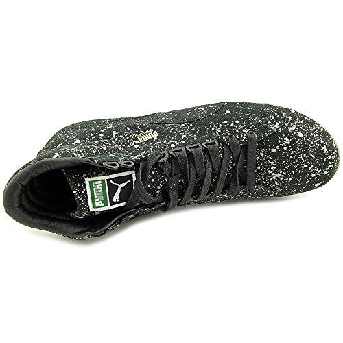 Puma Hombres Challenge All Over Splatter Tobillo-high Canvas Fashion Sneaker Black / Sail
