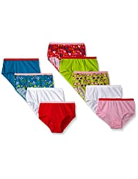 Fruit of the Loom Little Girls' Assorted Brief Nine-Pack