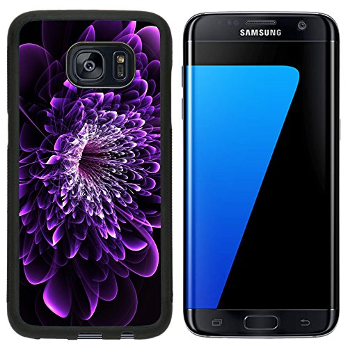 Liili Samsung Galaxy S7 Edge Aluminum Backplate Bumper Snap Case Beautiful purple flower on black background Computer generated graphics 28017852 by Liili (Image #3)