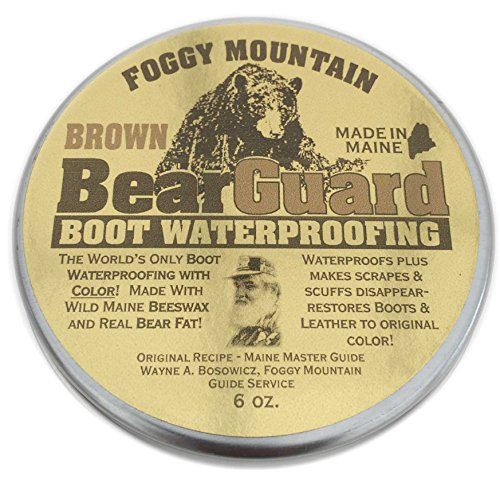 Bridle Brown Footwear - Bear Guard Brown - Boot and Leather Waterproofing with Color - Beeswax and Bear Grease