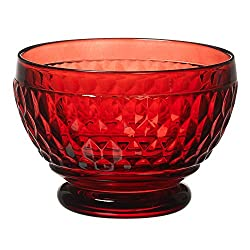 Red Crystal Boston Glass Bowl Set of 4