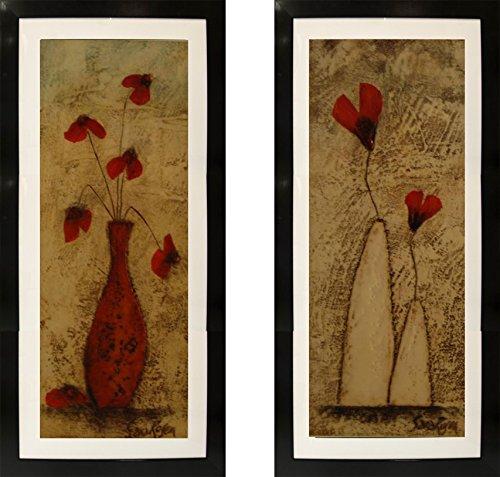 Contemporary 8 Pieces (Fleur II / Fleur IV ( 2 Set Pieces, Framed))