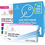 PREGMATE 100 Ovulation LH And 20 Pregnancy HCG Test Strips One Step Urine Test Strip Combo Predictor Kit Pack (100 LH + 20 HCG)