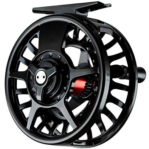 Fishing On The Fly | Fly Fishing Reel | Premium Die Cast Aluminum | Black (Black, 3/4 Weight)