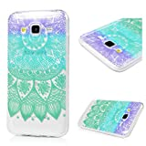 Image of Galaxy J5 (2016) Case, KASOS Colorful Painting Cute Pattern Design Soft TPU Shell Slim Fit Abrasion Resistance Anti-Scratch Lightweight Protective Bumper Cover - Half Mandala Flower