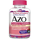 AZO Cranberry Gummies, Daily Urinary Health Dietary Supplement, 25,000 mg Of Cranberry Fruit Equivalent Per Dose Equal To One Glass of Cranberry Juice, 40 Count
