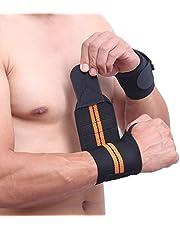 YMKT 1 ST Sweat Bands Polsbandjes Bandages voor Mannen Strak Wrap Verstelbare Ademend Elastische Polsband Polsondersteuning voor Gewichtheffen Fitness