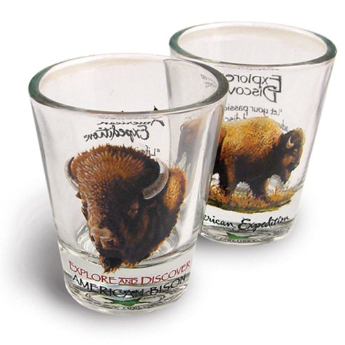 American Expedition Set of 2 Shot Glasses (American (Cat Costume Commercial)