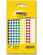 Etiqueta adesiva p/ codificação 6mm coloridas 886593 Pimaco, BIC, 886593, Multicor, pacote de 5