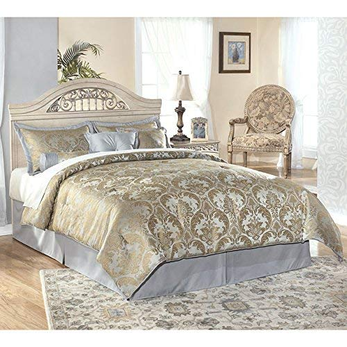 Ashley Furniture Signature Design - Catalina Panel Headboard - Queen/Full -  Component Piece - - Antique White Bedroom Furniture: Amazon.com