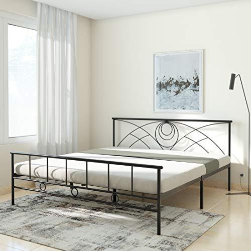 Amazon Brand – Solimo Jeff Metal King Bed (Black)