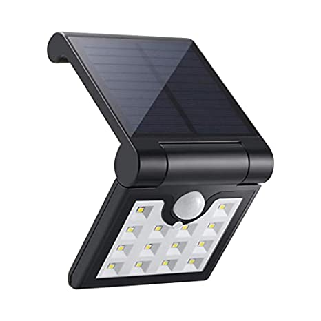 AOZBZ 14 LED de luz solar plegable, sensor de movimiento plegable luz de pared y