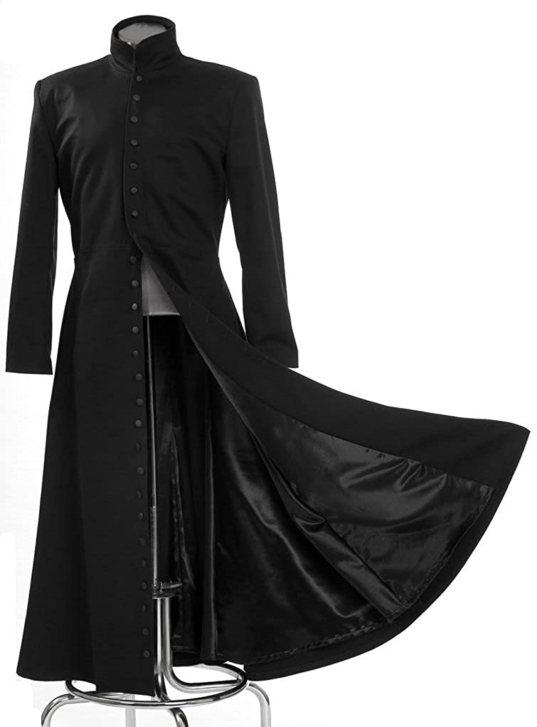 Neo Cosplay Costume Black Long Trench Coat