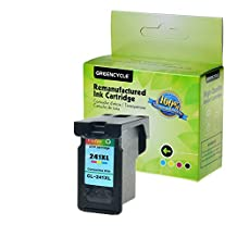 GREENCYCLE 1 Pack CL241XL Tri-Color High Yield Remanufactured Ink Cartridge with new chip Compible with Canon CL-241XL 241XL use in Canon For Canon PIXMA MG2120 MG2220 MG3120 MG3122 MG3200 MG3220 MG3222 MG3500 MG3520 MG3620 MG4120 MG4220 MX372 MX392 MX430, MX432 MX439 MX450 MX452 MX459 MX472 MX512 MX520 MX522 MX532 Show Ink Level