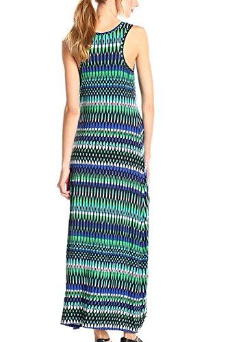 Vestidos rayas verano playa vestido Maxi vestido Casual Bohemia de las mujeres