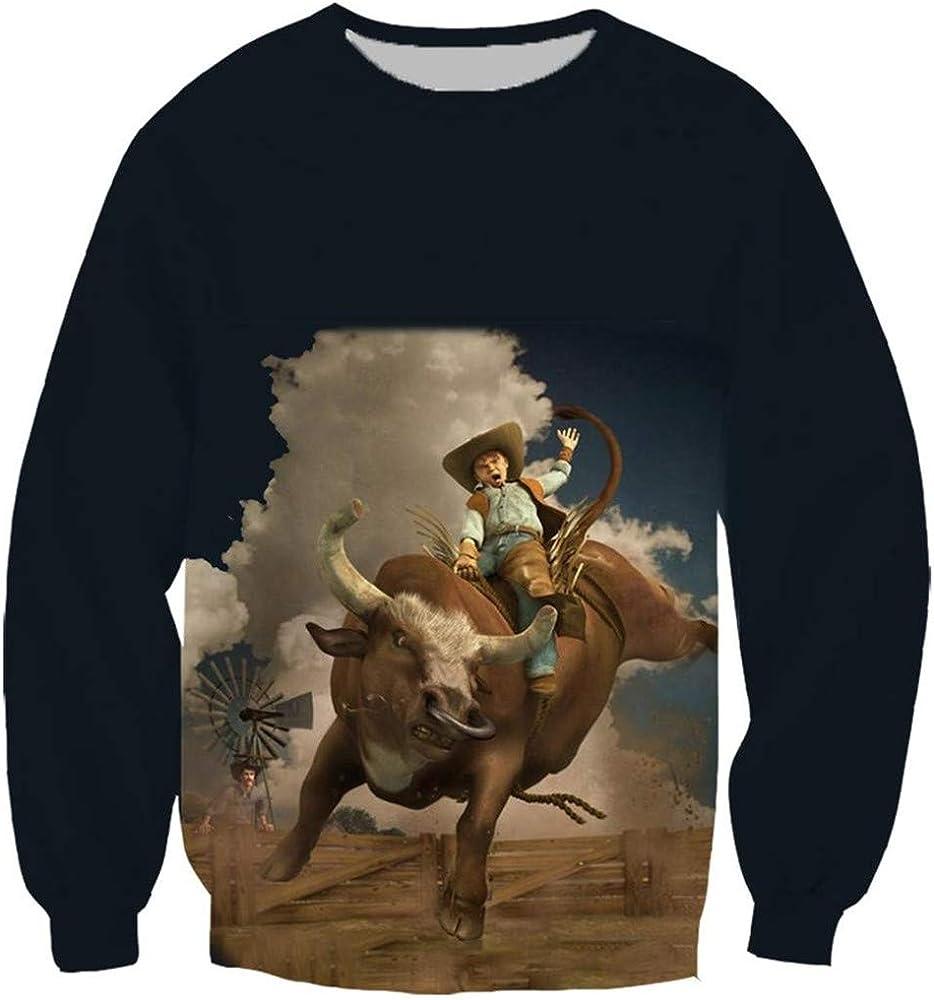 Divertido Rodeo Taurino Matador 3D impresión de la Manera de Las Mujeres Camiseta de los Hombres/Camisas/Sudaderas/Chaleco/Tops Hoodie S: Amazon.es: Ropa y accesorios