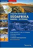 Großer Reiseatlas Südafrika / Namibia / Botsuana: 1:1,5 Mio. (KUNTH Reiseatlanten)