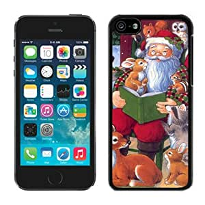 Individualization Iphone 5C TPU Case Santa Claus With Animal Black iPhone 5C Case 1
