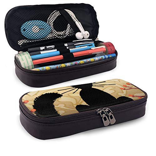 - Moonlight Cat Big Capacity Double Zipper Storage Pouch Organizer Bag
