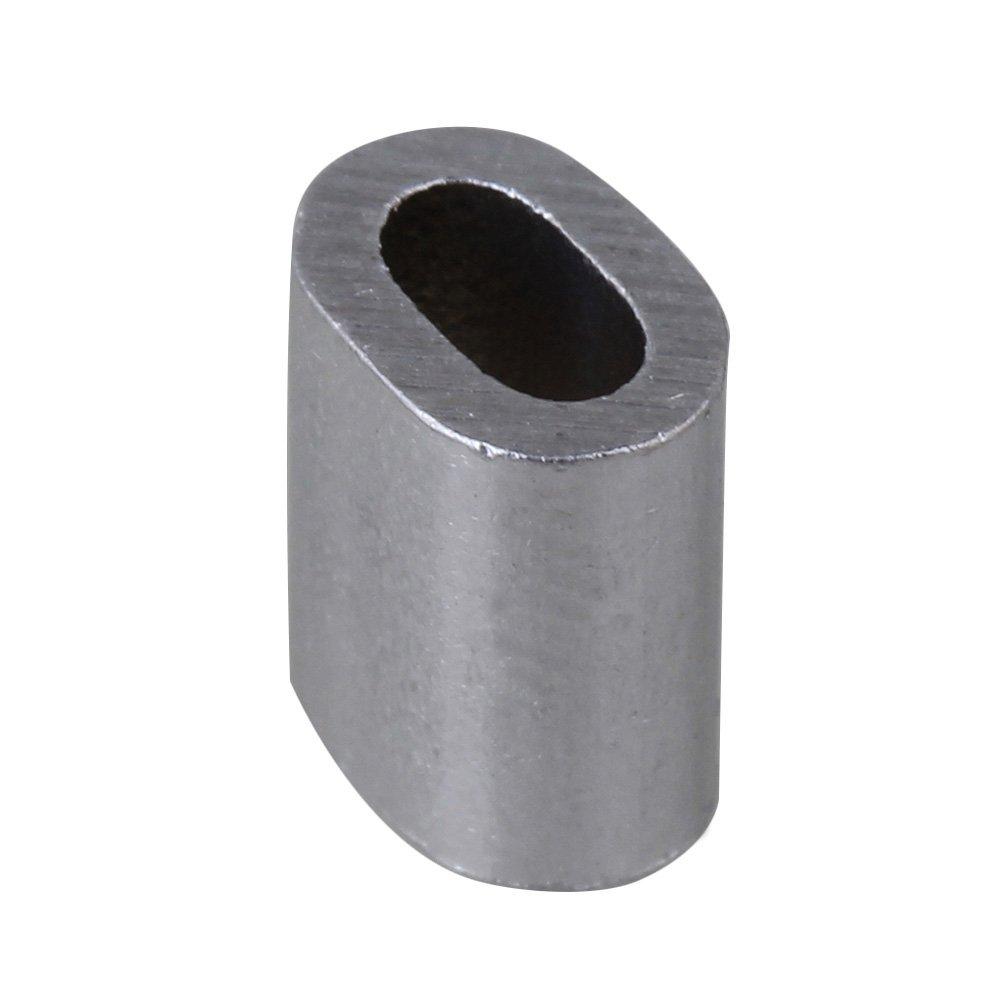 cnbtr 2 mm oval Form Remasuri Aluminium Crimpen Schlaufe Drahtseil ...