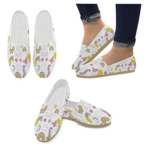Interestprint Womens Loafers Klassiska Avslappnade Duk Slip På Mode Skor Gymnastikskor Lägenheter Multi 18