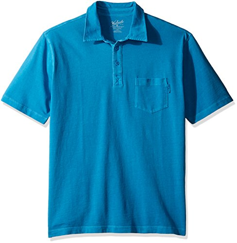 (Woolrich Men's First Forks One Pocket Polo, Blue Jay, Medium )