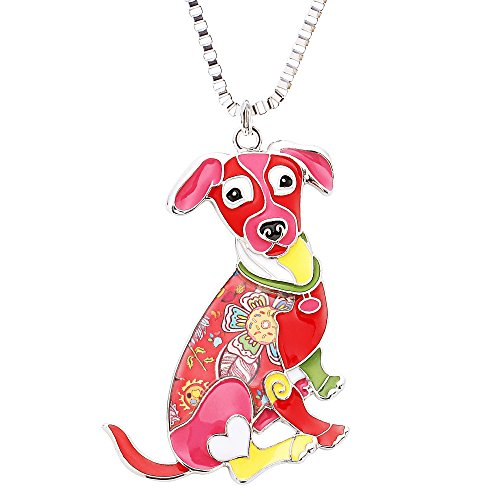 (Jack Russell Terrier Necklaces & Pendants for Women Cute Animal Pet Dog Jewelry Novelty Gifts)
