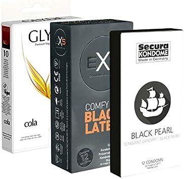 kondomotheke® Black Pack - 34 condones, negros: Amazon.es: Salud y ...