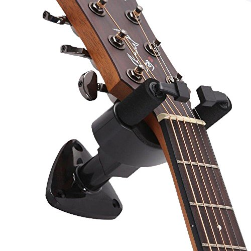 Iapetus Guitar Hanger, Ukulele Guitar Wall Mount Display Hook Holder, Stand Accessories Home or Studio Wall - Holder for Electric Acoustic and Bass Guitars, Fit All Size Guitars