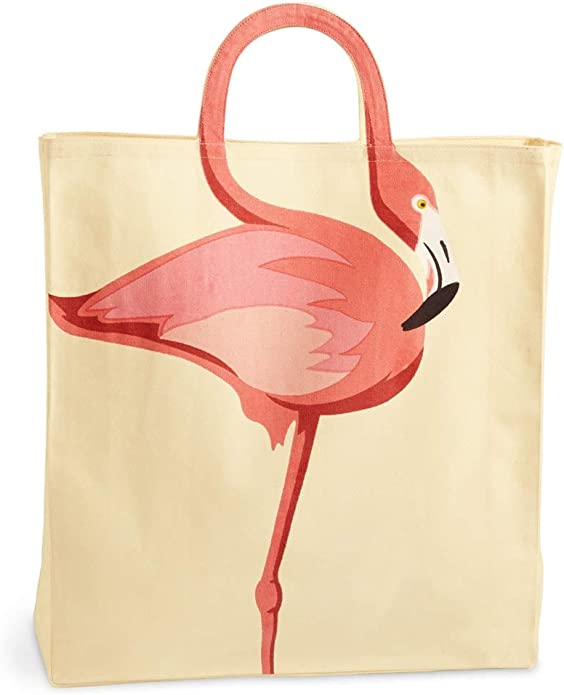 book bag Flamingo Party  book bag travel bag animal  illustration Pink Flamingo Tote Bag print accessories