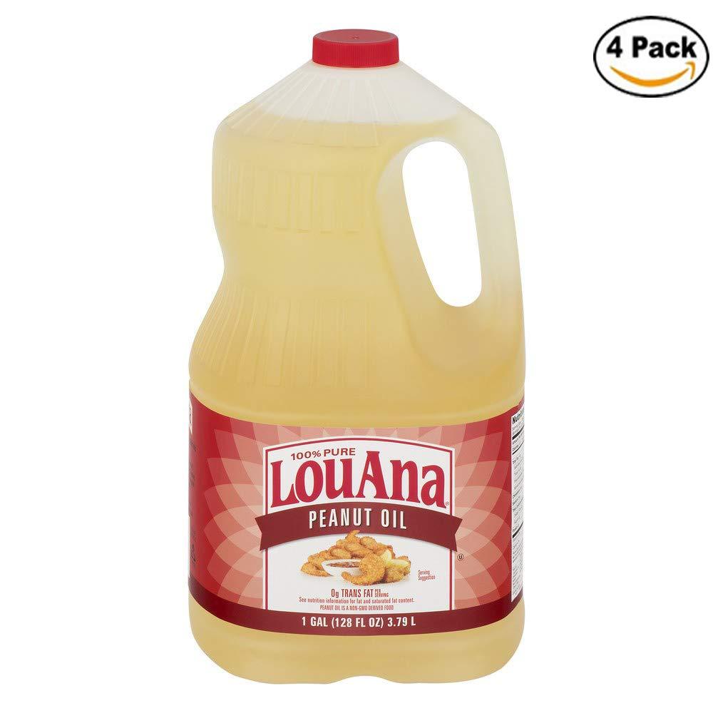 LouAna Peanut Oil, 128.0 FL OZ (Pack of 4) by LouAna